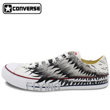 Wings Original Design Converse All Star Hand Painted Shoes Man Woman Sneakers Low Top Women Men Shoes Birthday Gifts