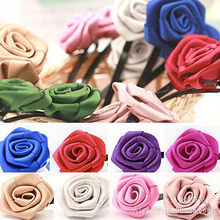 New Children's Baby Girls Rose Colorful Random Cotton Hairpin Princess Hair Clips For Children Tiara Acessorio De Cabelo T(China)