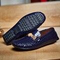 Zapatos de Los Hombres 2017 Nuevo Verano Suede Mocasines Casuales Para Hombre Mocasines Zapatos de Conducción Plana de Cuero Genuino Antideslizante
