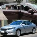 Accesorios del coche del ajuste para honda accord 4dr 2013-2016 lado DEFLECTORES de VENTANA LLUVIA VISERA GUARDIA SOMBRA PUERTA CLIMA ESCUDOS 2014 2015