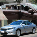 CAR ACCESSORIES FIT FOR HONDA ACCORD 4DR 2013- 2016 SIDE WINDOW RAIN DEFLECTORS GUARD VISOR DOOR SHADE WEATHER SHIELDS 2014 2015