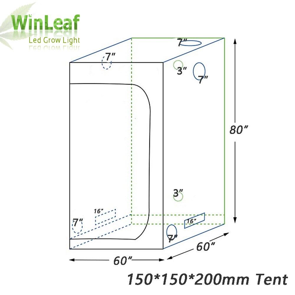 Crescere tenda indoor Idroponica serra 150*150*200 Camera Box da Coltivazione di Piante, riflettente Mylar Non Tossico Giardino Serre