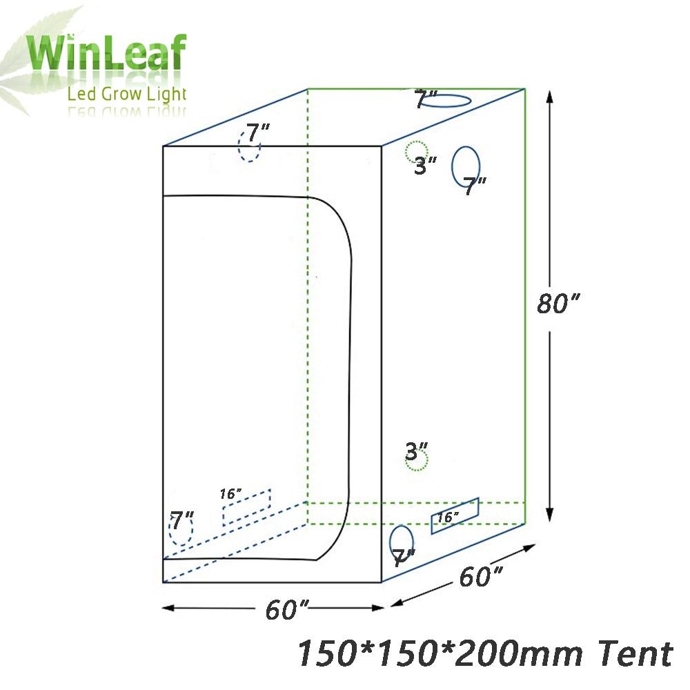 grow tent indoor hydroponic greenhouse 150 150 200 room box plant growing reflective mylar non toxic garden greenhouses [ 1000 x 1000 Pixel ]
