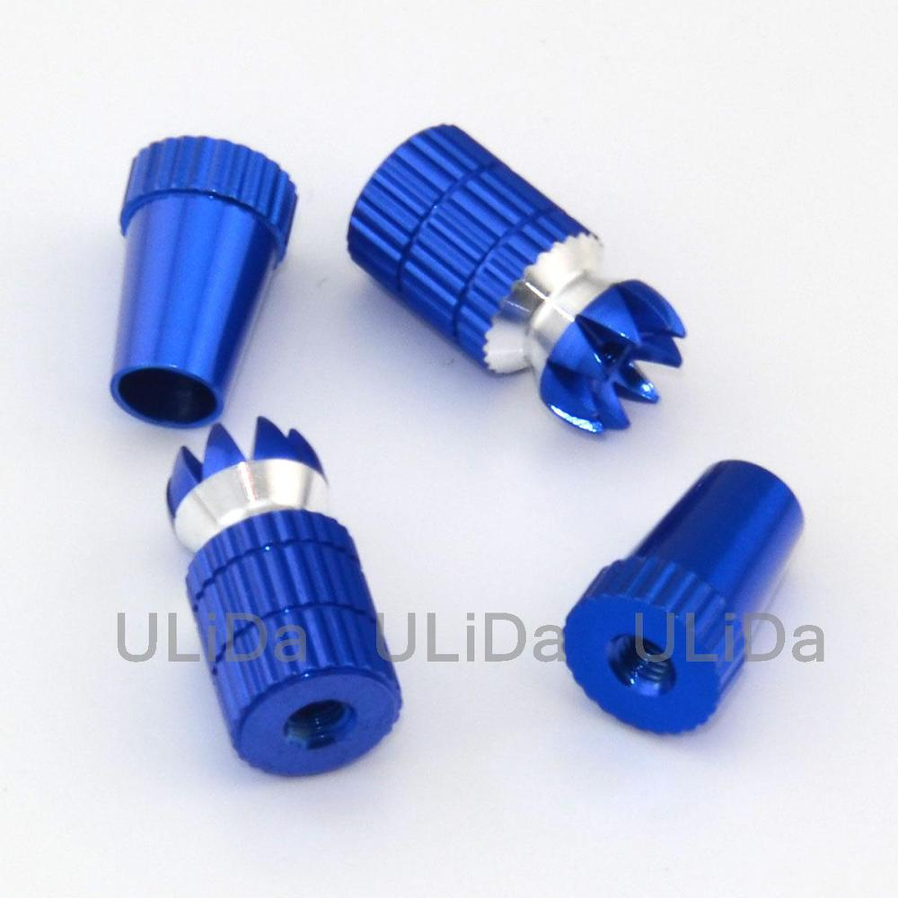 2 Color Red/Blue M4 Aluminum Transmitter Thumb Stick for JR Transmitter  RC Helicopter Airplane Car Quadcopter