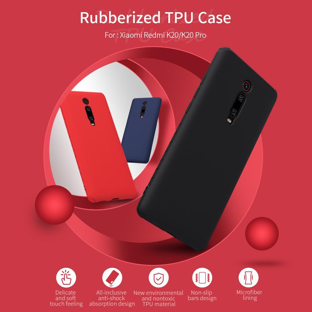 Case For Xiaomi Redmi K20 NILLKIN Rubber Wrapped Anti-Shock TPU Soft Back Cover Case For Xiaomi Redmi K20 Mi9T Pro