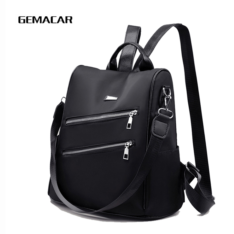 Women Backpack Light Simple Female Multifunction Travel Anti-theft Knapsack Soft Wear Resistant High Quality Cloth