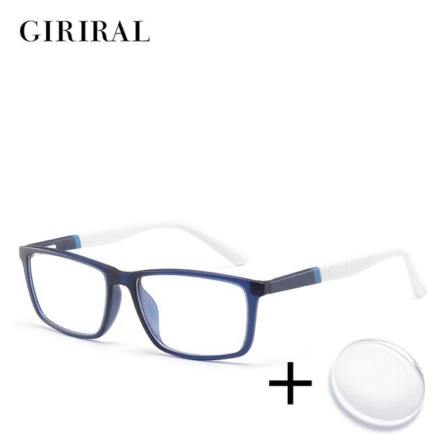 TR90 الرجال وصفة طبية نظارات الاستجماتيزم الكمبيوتر القراءة قصر النظر واضح اللونية شفافة البصر البصرية نظارات # MOD.5028