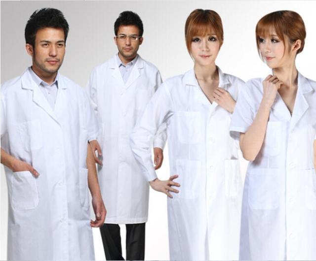 Standard White coat doctor long sleeve/short sleeve lab coat