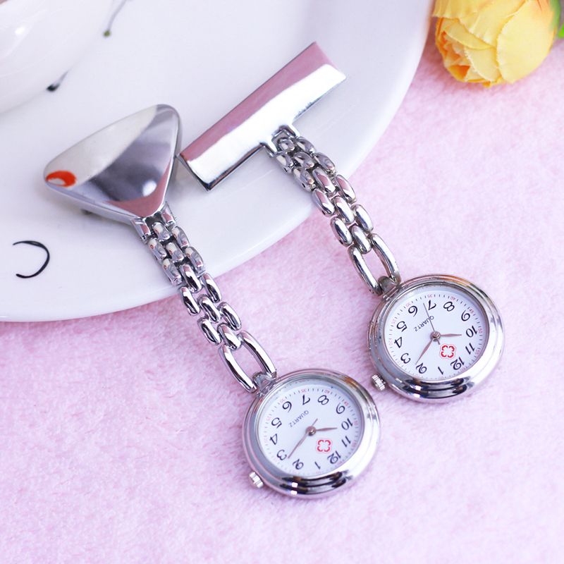 2019 New Nurse Doctor Red Cross Quartz Pocket Watches Women Men Old Men Home Care Worker Portable Electronic Brooch Watch Clock
