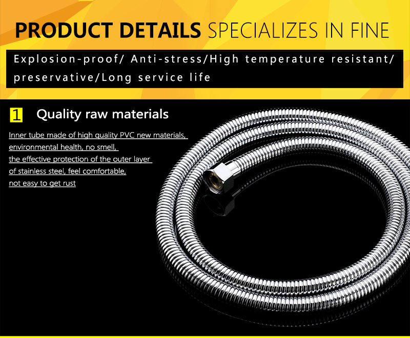 Plumbing Hoses Stainless Steel Shower Hose 1.5m Plumbing Hose Bath Products Bathroom Accessories SUS304 Shower TubingHoses (14)