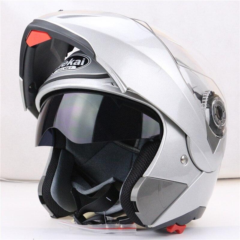 JIEKAI 105 flip up casque de moto double visière système chaque rider abordable casque de vélo M L XL XXL disponible