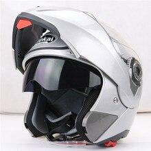Jiekai 105 flip up casco de la motocicleta sistema dual visera cada jinete asequible bike helmet M L XL XXL disponible