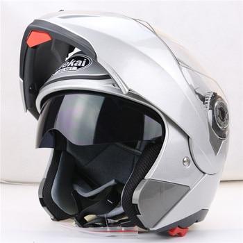 JIEKAI 105 flip up motorcycle helmet dual visor system every rider affordable bike helmet M L XL XXL available