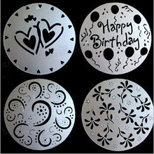 8inch Free shipping birthday cake mould heart flower decorating tools 4pcs set