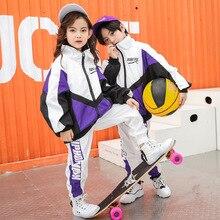 Детская одежда в стиле хип-хоп; костюм для джазовых танцев; куртка для бега; пальто; топы; Штаны для бега для девочек и мальчиков; одежда для бальных танцев; уличная одежда