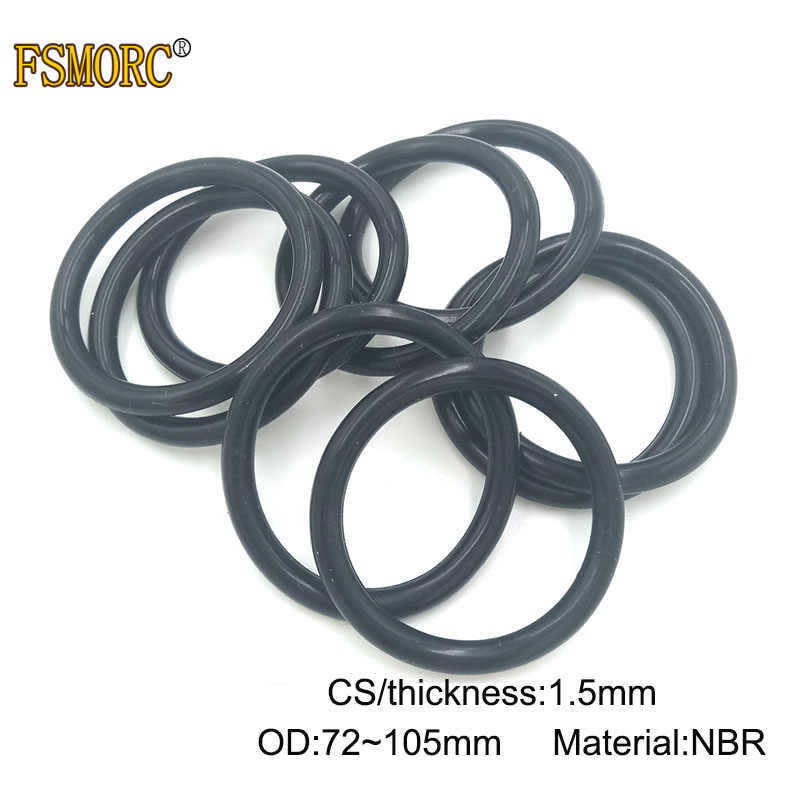 100pcs 3.1mm Oil Resistant NBR Nitrile Butadiene Rubber O-Ring OD 25mm Sealing
