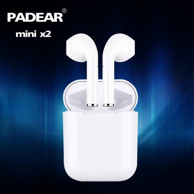 Casque Bluetooth Padear mini X 2 écouteurs sans fil écouteurs pas i11 i10 i11 pour Iphone Android X xs RS Sumsung