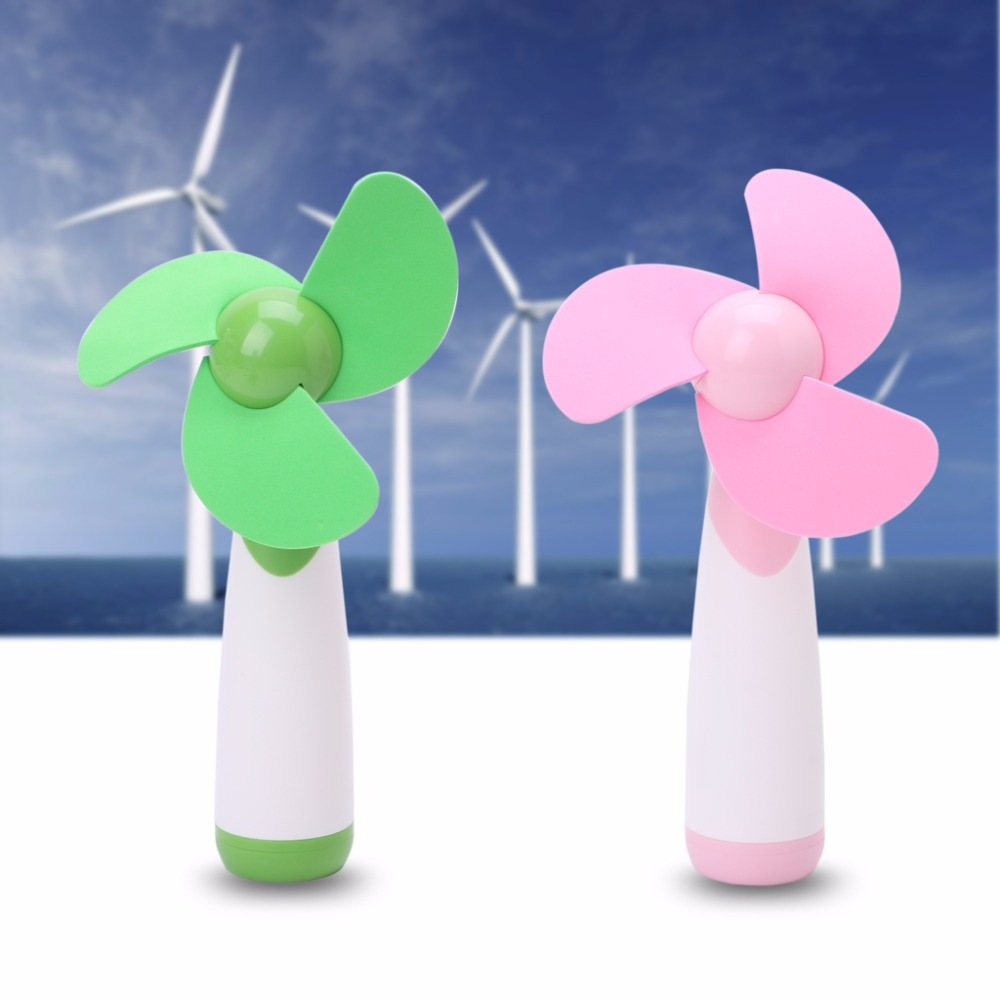 Portable Handheld Mini Fan Super Mute AA Battery Operated Cooling Home Travel mini handheld battery operated sewing machine for kids