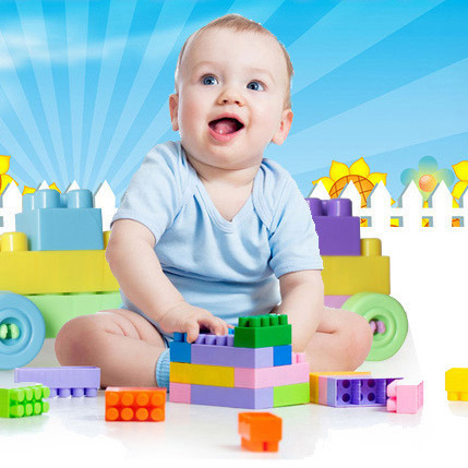 Montessori Toy Baby Kids Building Blocks Educational Learning Construction Developmental Toy Set Brain Game Toy best girl toys 2017