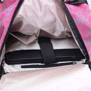 Image 5 - 유명 브랜드 캔버스 여성 여행 가방 여성 대용량 여행 배낭 숙녀 다기능 크로스 바디 가방