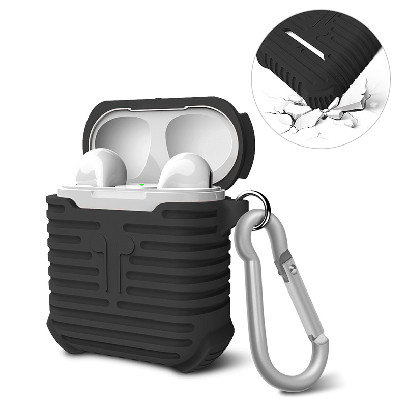 For Apple Airpods Silicone Case Soft TPU Cover Ultra Thin Clear Protector Case Sleeve Pouch for Air pods Earphone