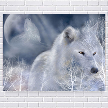 Diamond painting DIY kit kid toy snow wolf wolves animal passage baby room living room dining hall home hotel office shop deco