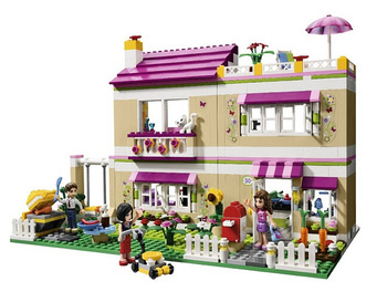 695pcs Girl friends Oliver's House  Oliver/Peter/Anna Model building blocks set Brick Compatible