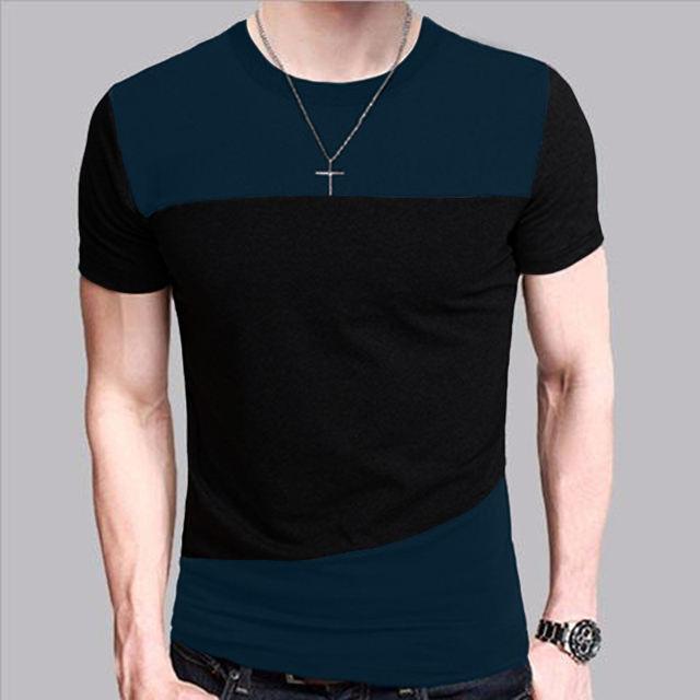 6 Designs Mens T Shirt Slim Fit Crew Neck T-shirt Men Short Sleeve Shirt Casual tshirt Tee Tops Short Shirt Size M-5XL TX116-R