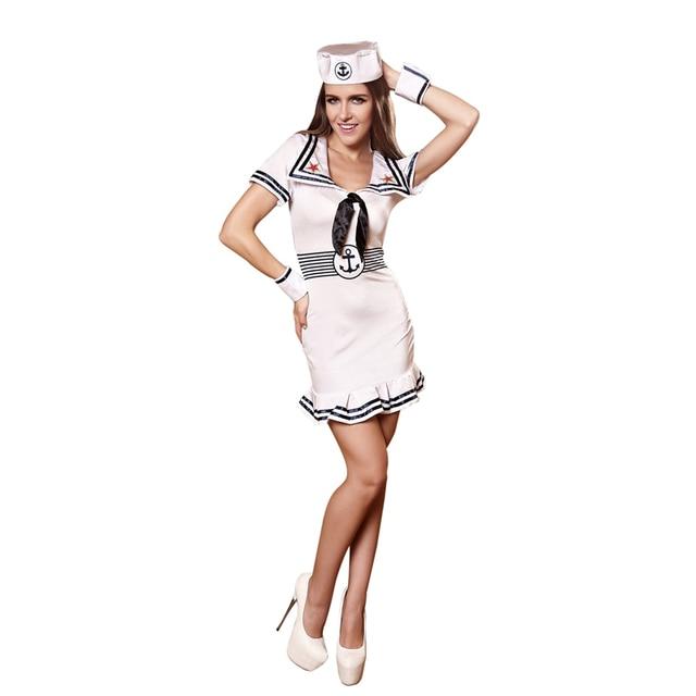 fc0341981d Linda atractiva Del Marinero Marina de Lujo Vestido de Fiesta de Disfraces  Mar Náutico Marina Marinero