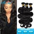 Brasileira onda do corpo do cabelo virgem 4 pcs muito 100g 8-30 polegadas 100% humano cabelo Ali sky 7A Série cabelo brasileiro da onda do corpo mais ondulado