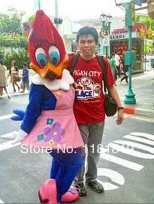 Woodpecker mascotte costume canard fille personnalisé fantaisie costume anime cosplay kits mascotte dessin animé thème fantaisie robe