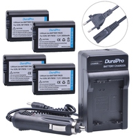 4pc NP FW50 NP FW50 FW50 Li Ion Battery Car Charger EU AC For Sony A6000