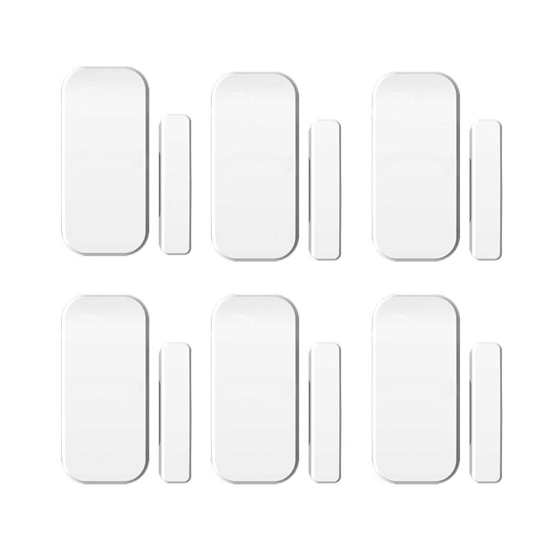 купить 6pcs/lot Intelligent  Wireless Door Magnetic Sensor  Door Gap Window Sensors Detectors 433MHz  For our Alarm System онлайн