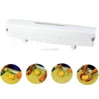 Kitchen Gadgets Plastic Wrap Dispenser Cutter Food Storage Holder Blade Cutter