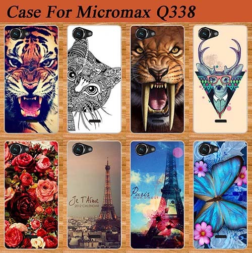 For Micromax Q338 Case Cover,Hot Diy Colored Painting Tiger Owl Rose Soft Tpu Case Cover For Micromax Canvas Magnus 2 Q338 Sheer