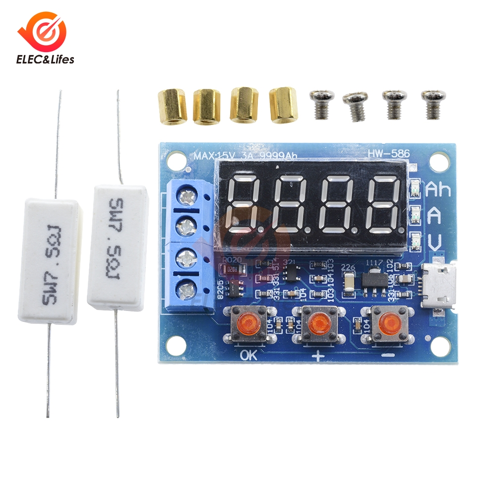 Power Battery Capacity Tester LED Digital ZB2L3 Micro USB Li-ion Lithium 18650 External Load Battery Discharge Testing Analyzer
