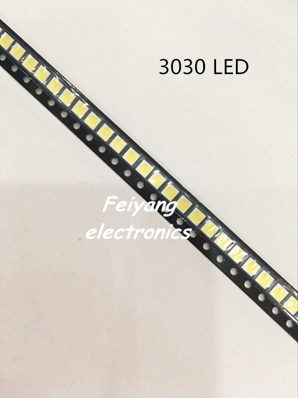 50pcs Lextar LED Backlight High Power LED 1.8W <font><b>3030</b></font> 6V Cool white 150-187LM PT30W45 V1 TV Application <font><b>3030</b></font> smd led diode image