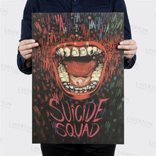 Suicide Squad Style A/classic science film movie/kraft paper/bar poster/Retro Poster/decorative painting 51×35.5cm Free shipping