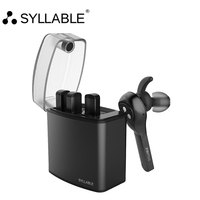 SYLLABLE D9X TWS Detachable Battery Wireless Bluetooth V4 2 Earphone Portable Lighter Charge Case Bluetooth Headset