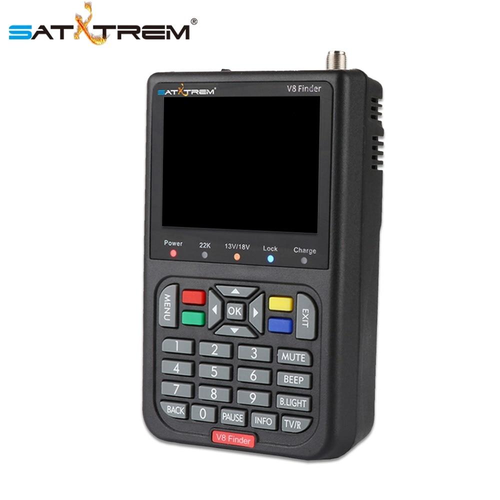 Satxtrem Satellite Finder Digital Sat V8 Finder FTA DVB S S2 HD TV Antenna Outdoor Signal