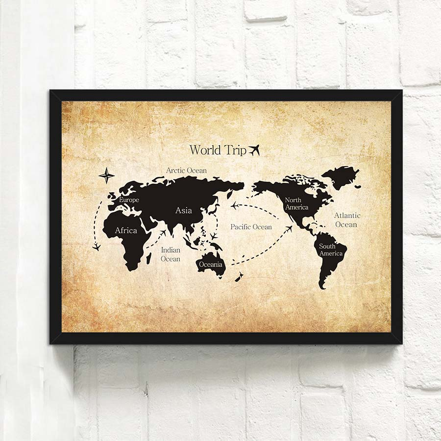 Retro vintage black white atlas world map art canvas print painting retro vintage black white atlas world map art canvas print painting poster wall pictures printable for classroom office decor in painting calligraphy from gumiabroncs Images