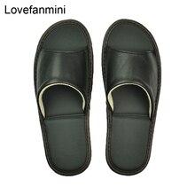 Vera Pelle di pecora pantofole paio di coperta non slip donne degli uomini di casa moda casual scarpe singolo PVCsoft suole primavera estate