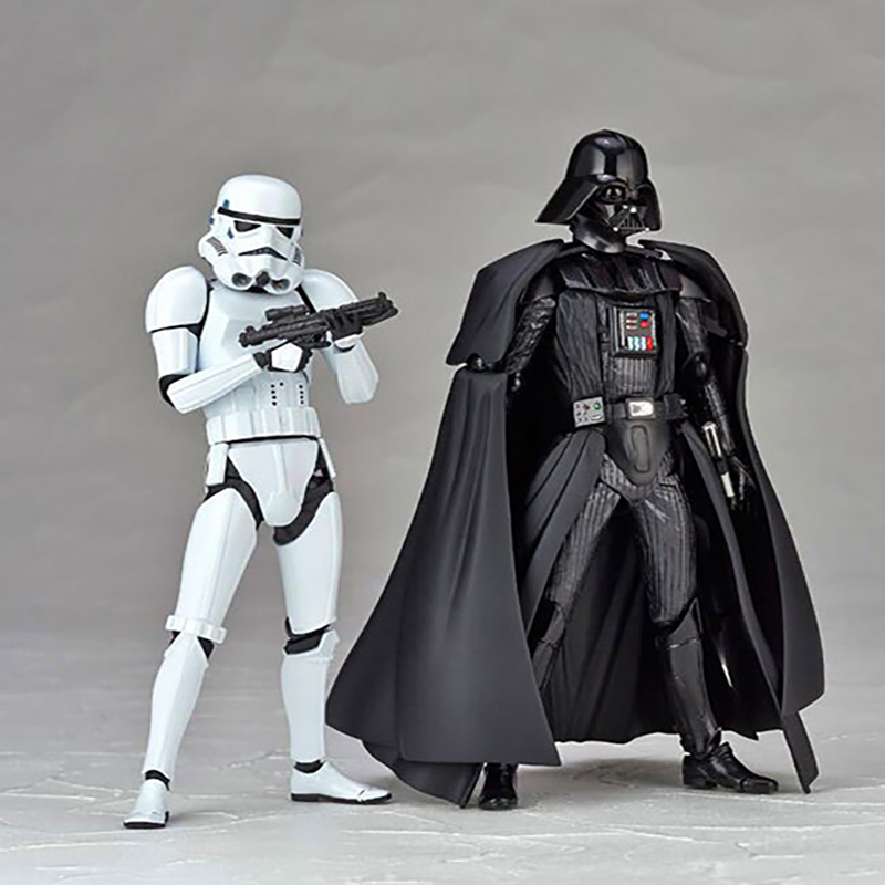 Action figure Star Wars No.001 No.002 Darth Vader Stormtrooper Starwars model Christmas 15cm toys gift