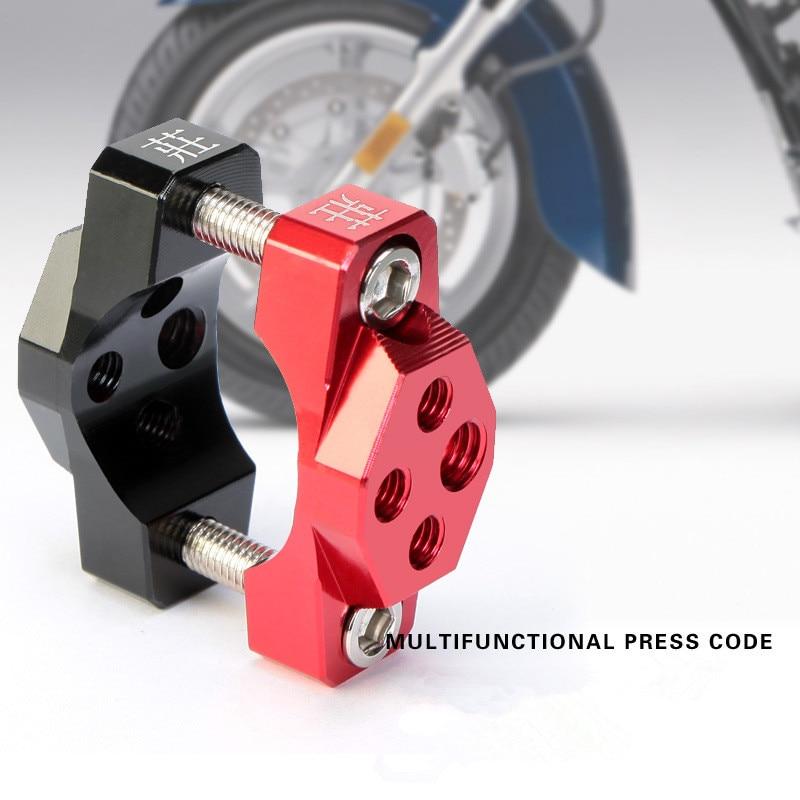Universal  Motorcycle Bicycle Aluminum Spotlight Headlight Phone GPS Handlebar Holder Bracket Clamp Fixed Chips Frame