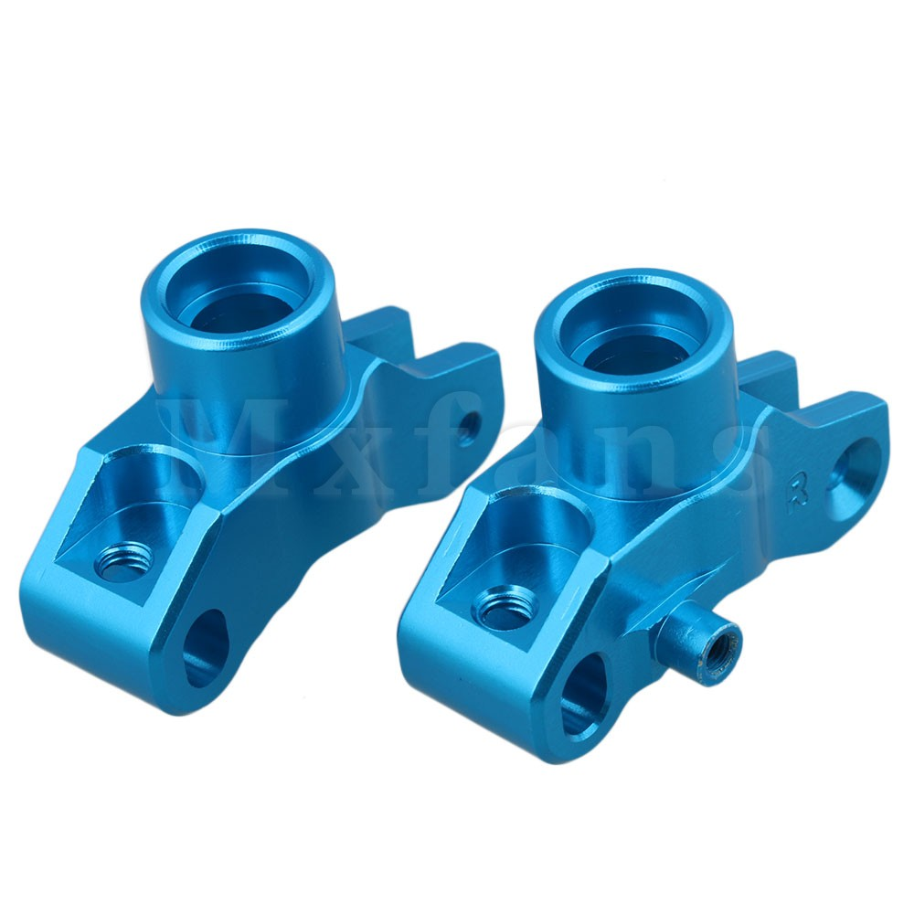 Mxfans 2 x Blue Aluminum Alloy Upgrade Parts OT002 Rear Hub Carrier(L/R) for KYOSHO 4WD OPTIMA RC:1:10 Off-Road Car