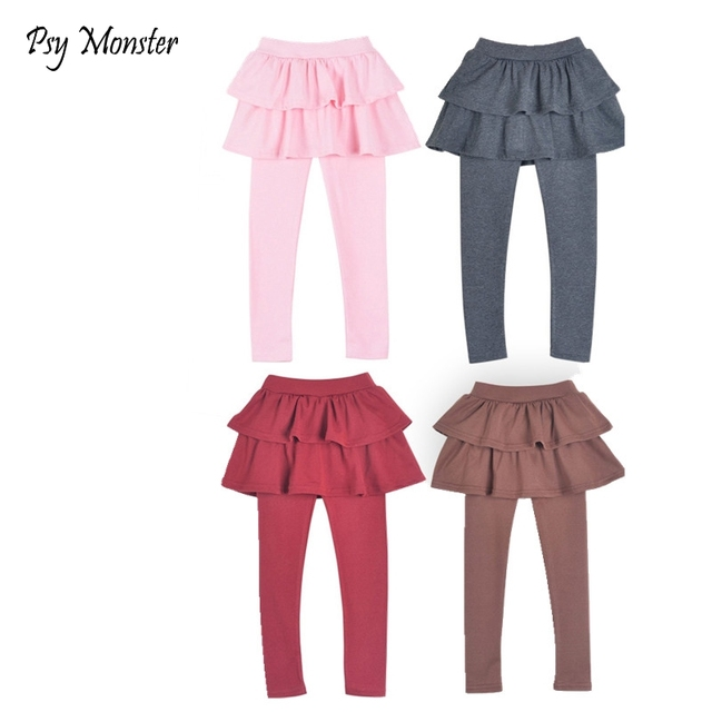 9e473c627 Niñas falda pantalones 2018 otoño niñas polainas con falda Niñas Ropa de  baile niños Pantalones para