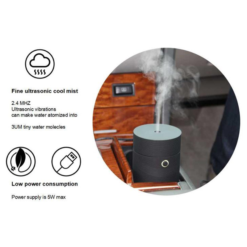 55ML Electric Aroma Essential Oil Aroma Diffuser Potable USB Air Humidifier with Led Light Mist Maker Fogger for Office Car (12)