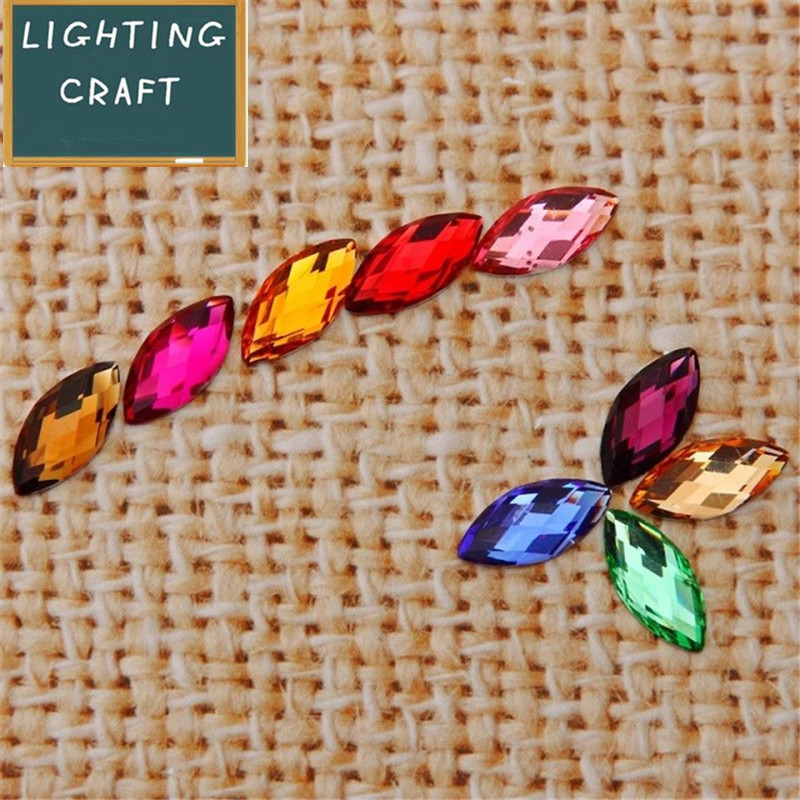 7*15 MM Multi Colors Horse Eye Rhinestone 50 Pieces In One Lot For DIY Motif Clothes/Wedding Dress/Shoes