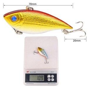 Image 5 - 1PCS Fishing Sinking VIB Lure 10g 7cm Vibration Vibe Rattle Hooks Baits Crankbaits  Wobbler Fishing Jig Wing Tackle