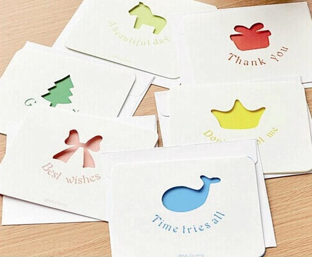 60pcs greeting card hollow out good luck love happiness special 60pcs greeting card hollow out good luck love happiness special design individual envelope best wishes festival m4hsunfo